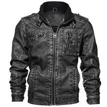 PU Leather Jackets Men Casual Outwear Winderbreaker Motorcycle Fitness Leather Jackets 6XL 7XL  jaqueta de couro Wholesale