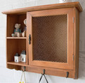 Vintage Wood Cabinet Wall Shelf Wall Decoration 43.5*13*38 CM