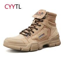 CYYTL высокое качество мужские мотоциклетные туфли модные кожаные рабочие безопасности Zapatos de Hombre Botas мужские Erkek Bot Timblerland военные