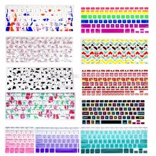 HRH Silicone Flower Decal Rainbow Keyboard Cover Keypad Skin Protector For Apple Macbook Pro 13 15