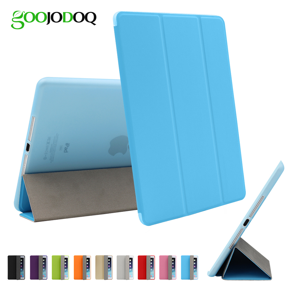 GOOJODOQ TPU Soft Smart Case For iPad Air 1 Mini 3 2 1 Ultra Thin PU Leather Cover Flip Stand Silicon Case Auto Sleep/Wake up stand ultra thin pu leather case for apple ipad mini 1 2 3 case colorful flip tablet smart cover auto sleep wake up magnet