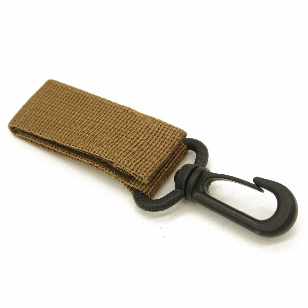 2 PCS Carabiner Tactics Nylon Ribbon Key Hook MOLLE Webbing Hanging System Belt Climbing Hanging Multi-Function Key Buckle