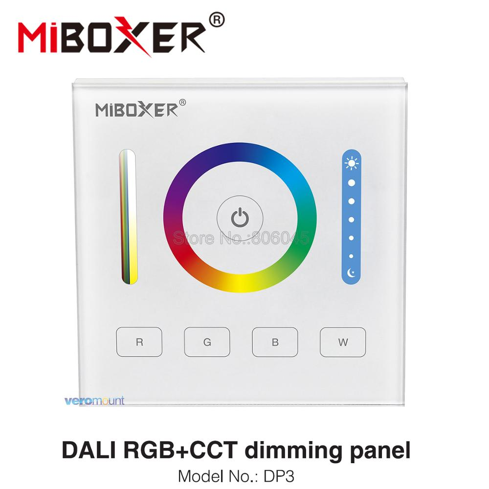 MiBOXER DALI 86 Touch Panel RGB RGBW RGB+CCT 3 In 1 Smart LED Controller DP3 For RGB RGBW RGBCCT LED Strip