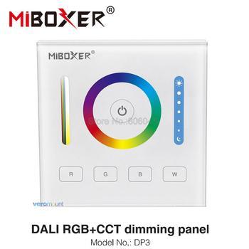 MiBOXER DALI 86 panel dotykowy RGB RGBW RGB + wtc 3 w 1 inteligentny kontroler LED DP3 dla RGB RGBW RGBCCT taśmy LED tanie i dobre opinie veromount ROHS DP1 DP2 DP3 DALI dimming panel Ściemniacze 2year Glass ABS Dimmers DALI Power IEC62386 DALI brightness dimming panel