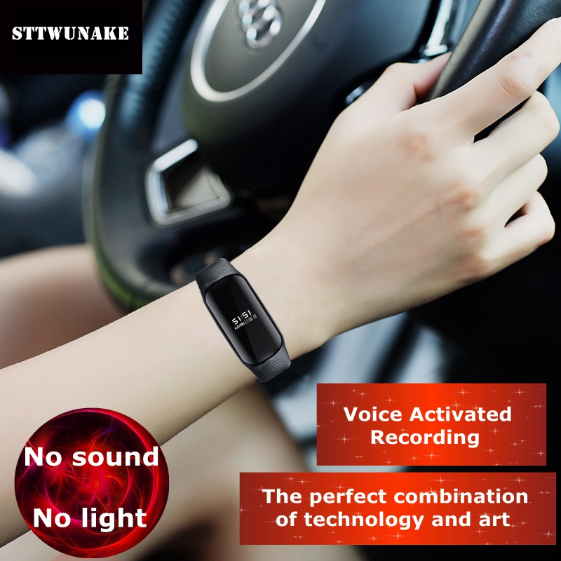 цена STTWUNAKE hidden bracelet voice recorder watch Time stamp Audio Recorder Dictaphone Professional Digital HD noise reduction