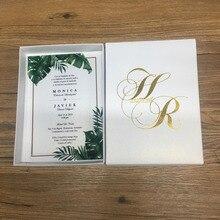 Красивые 50 наборов,, на заказ, различные цвета, печать, свадебные приглашения, уникальные элегантные акриловые карты, образец