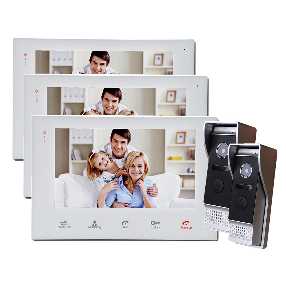 ⑤Homefong 7 Inch Video Intercom System Touch Screen Wired Video ...