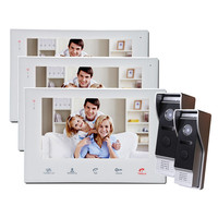 YSECU 7 Inch Record Video Intercom System Touch Screen Wired Video Door Phone With Picture Photo