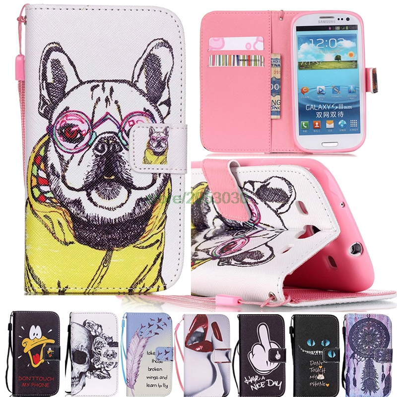 Wallet Flip Cover Leather + Silicone Case For Samsung Galaxy S 3 iii S3 Neo  i9300 i 9300 i9301 Duos i9300i GT-i9300 GT-i9301 GT