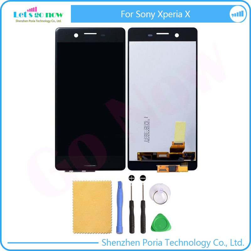 ФОТО Full New For Sony Xperia X LCD Display screen+Touch Glass Digitizer Assembly Replacement Parts +Free Tools