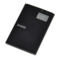 Retail China Lipo Rechargeable External Nimh Mobile Phone Battery BA600 1500mAh For Sony Ericsson Phone U