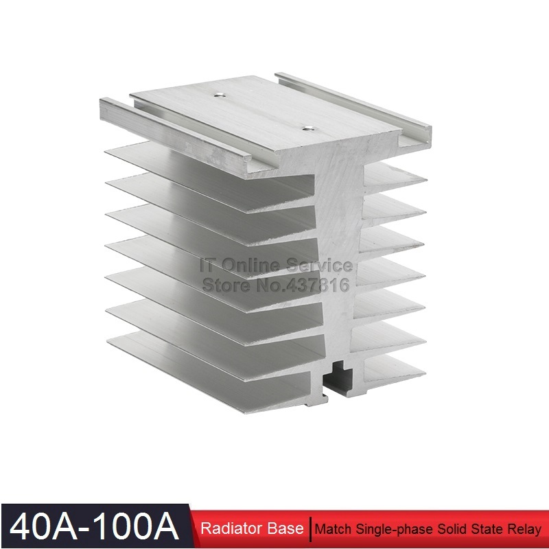 High Quality 40A-100A Solid State Relay Radiator Base SSR Heatsink Base 40A 80A 100A buk9640 100a