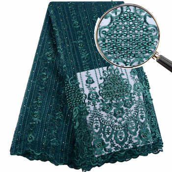 2019 Hot Sale Green Embroidered African Lace Fabric High Quality With Plenty Beaded French Net Guipure Lace Fabrics F1399 - DISCOUNT ITEM  34% OFF All Category