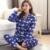Pijamas Para As Mulheres Sleepwear Primavera E No Outono Feminino Longo-luva Pijamas Cardigan de Algodão Conjunto de Pijama