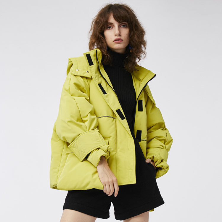 2019 New Winter Fashion Street Womens   Down   Jacket Cool Girls Zipper Hooded   Down     Coat   Outerwear