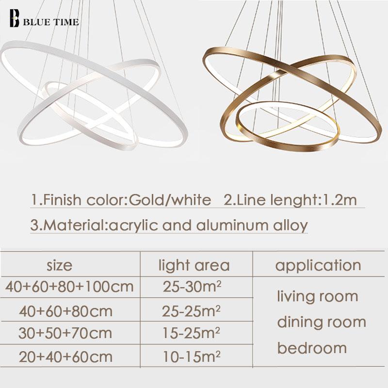 5 4 3 2 Rings Modern Led Pendant Lights For Living room Dining room Kitchen Hanging Lamp Round Led Pendant Lamp Home Luminaires in Pendant Lights from Lights Lighting