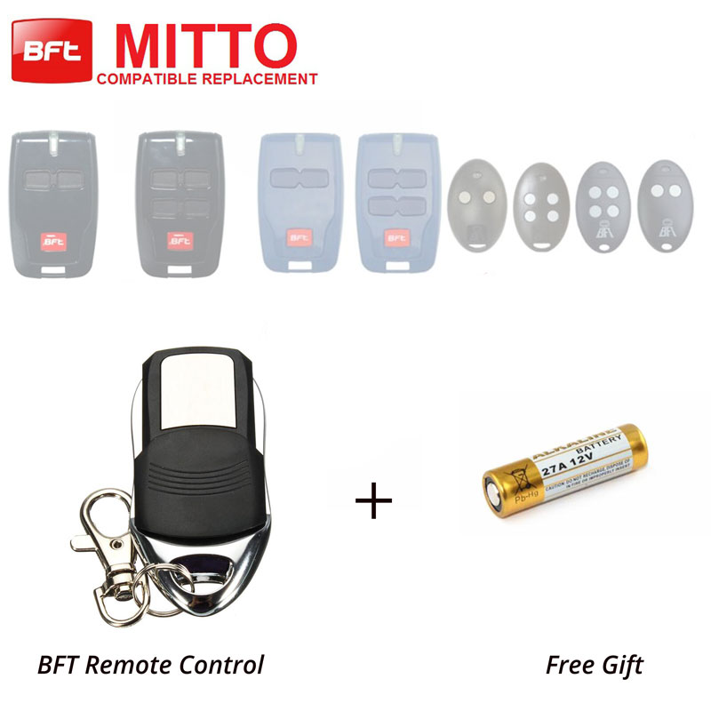 Wireless Gate Door Opener Hand Control BFT MITTO RCB 2/4 Replacement Remote Key for bft mitto b rcb04 gate door opener hand remote control rolling code 433 92mhz