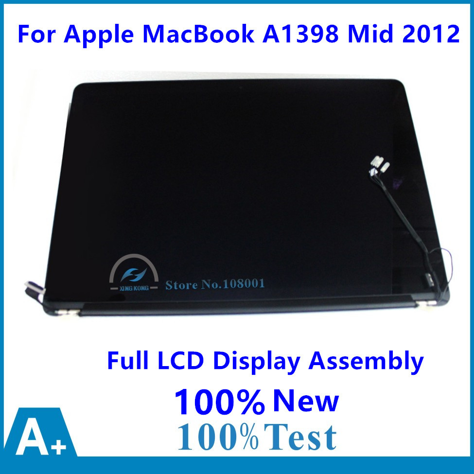 100% New For Apple MacBook Pro 15 Retina A1398 EMC 2512 MC975 MC976 EMC 2673 ME664 ME665 Full LCD Display Panel Screen Assembly new 15 4 for apple macbook pro retina 15 a1398 led lcd screen display 2015 free shipping
