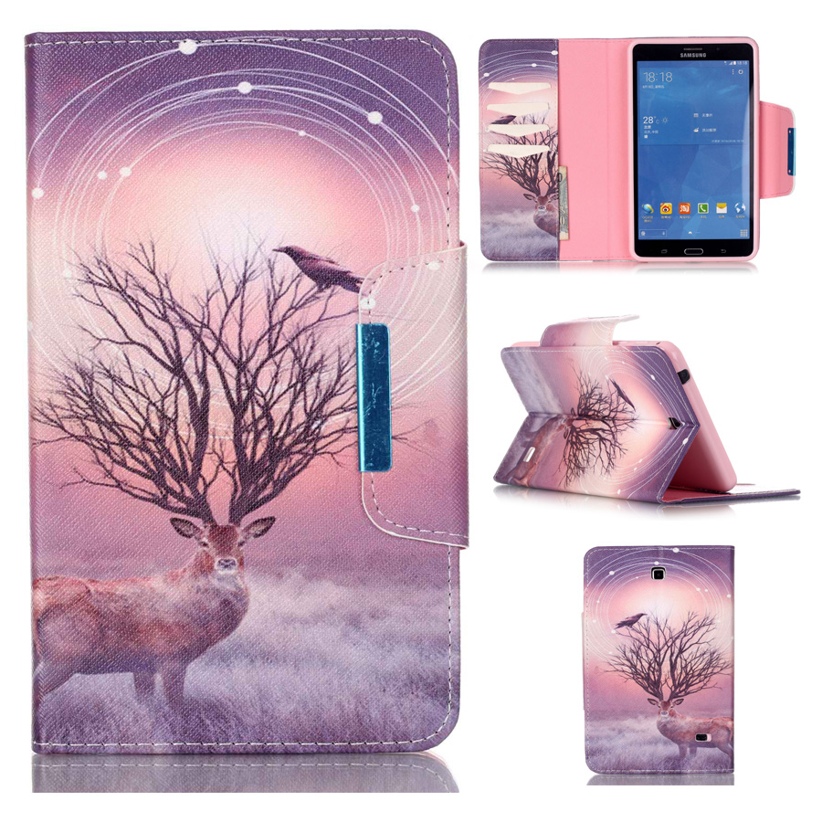 Folding Folio Case for Samsung Galaxy Tab 4 7.0 SM-T230 SM-T231 T235 Book Style Wallet Stand Cover Case Tablet Magnetic Closure аксессуар чехол samsung galaxy tab a 7 sm t285 sm t280 it baggage мультистенд black itssgta74 1