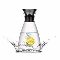 Caraffa di vetro con Acciaio inossidabile Silicone Coperchio Flip-top Acqua Calda o Acqua Ghiacciata Brocca Creare Il Ghiaccio Bevande SH180