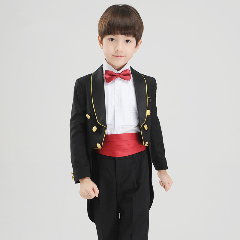 2018 New Fashion Baby Boys Kids Children Tuxedos Suits Boy Suit For Weddings Formal Black White Piano Performances Tuxedo Dress In Clothing Sets From Mother