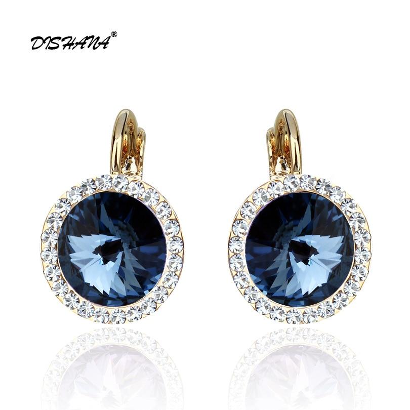 Luxury Green Top Quality Earring Gold Color Antique Women Drop Dangle Earrings For Women Crystal Rhinestone Jewelry(E0073-1)
