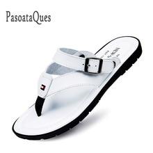 Flip Flops Men Sandals Summer Slip-on Shoes For Casual Walking Seaside Beach Breathable Slides Men's Brand Designer Flats
