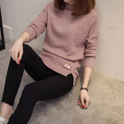 2018 Women Sweaters And Pullovers Autumn Winter Cashmere Long Sleeve Pull Femme Solid Pullover Female Casual Knitted Sweater