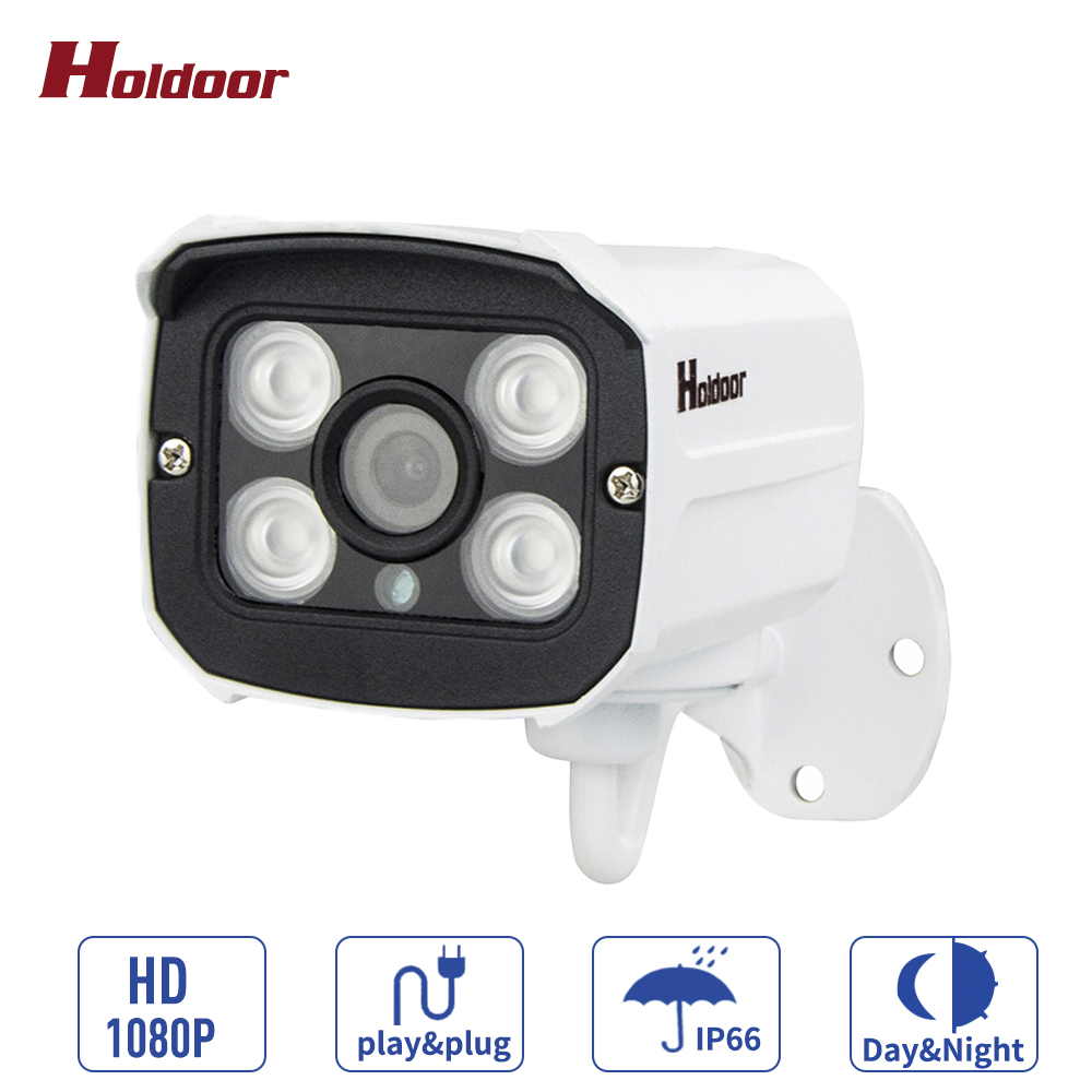 Holdoor 1080P 960P 720P ONVIF IP66 Waterproof Security Outdoor IR CUT Night Vision Plug and Play Mini Bullet IP Camera Wired wistino 1080p 960p wifi bullet ip camera yoosee outdoor street waterproof cctv wireless network surverillance support onvif