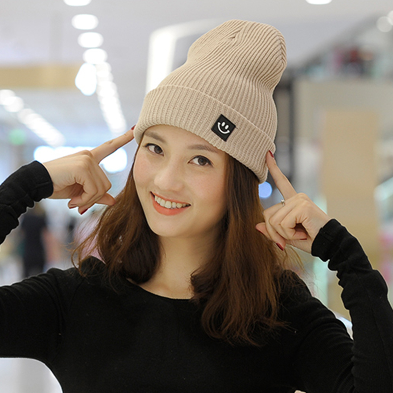 LNRRABC Women Winter 7Colors Solid Cotton Knitted Hats Fashion Warm Brief Skullies Beanies