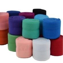 5 yardas (2 cm) multifunción banda elástica tejido poliéster Spandex cinta costura encaje ajuste cintura banda accesorio ropa AA8511