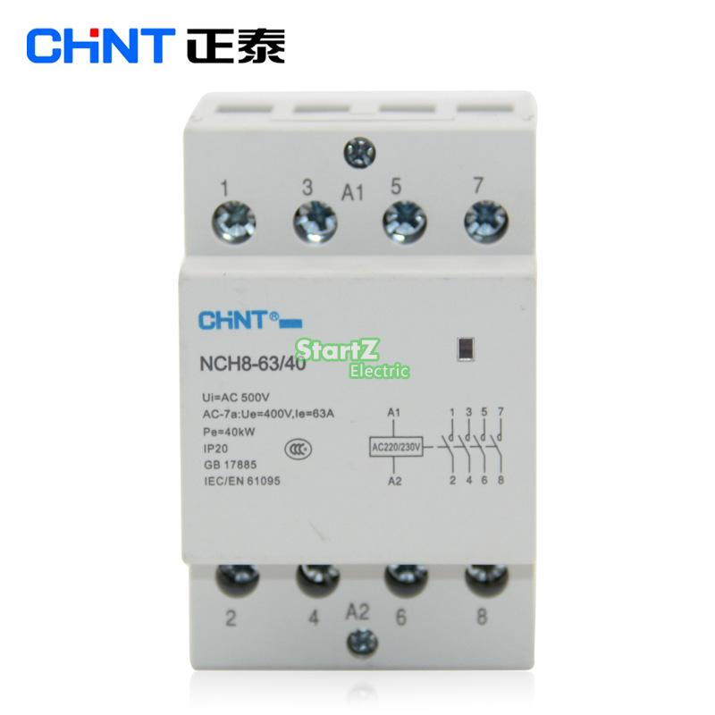 CHNT  NCH8 63/40   63A 400V  4NO   Din rail Household AC Contactor-in Contactors from Home Improvement