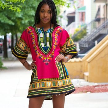 2016 African Dresses For Women Dashiki Men African Clothes Hippie Shirt Caftan Vintage Unisex Tribal Mexican Top Bazin Riche 건달 조폭 옷