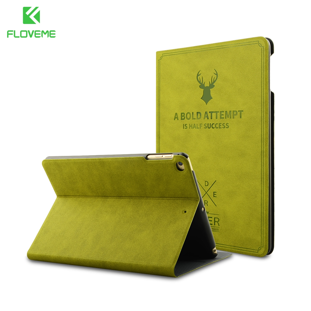 FLOVEME Luxury PU Leather Case For iPad Mini 1 2 3 4 Cover Deer Pattern Slim Flip Stand Protective Covers For iPad Mini 1 2 3 4