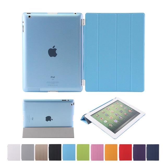 Для Apple iPad4 iPad3 iPad 2 Смарт Дело Чехол Оригинальный Стенд PU кожаный Чехол PC задняя крышка Для ipad 2/3/4 Подарок