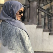 Écharpe Maxi Hijab musulmane Double bord en dentelle
