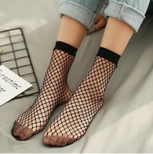 цена на Chic Streetwear Women's Harajuku Candy Color Breathable Fishnet Socks.Sexy Hollow out Nets Socks Ladies Sweet Mesh Sox 10pairs