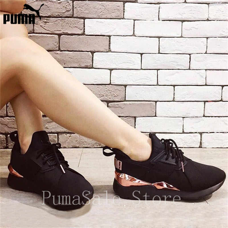 f90eb95144d01 ... PUMA Muse Satin EP Womens Sneakers 367047-01 Women Sports Outdoor  Badminton Shoes Black Pink ...