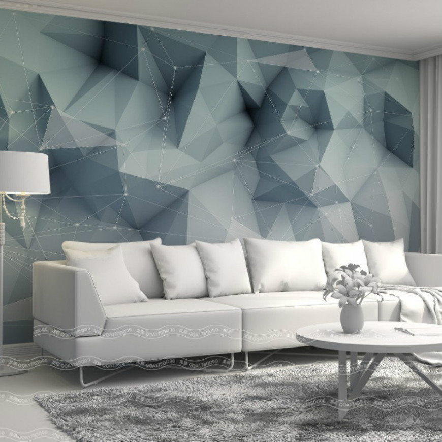 Free Shipping Buy Livingroom Wallpaper Solid Geometric Lines Staggered Series Cheapest Wallpaper Custom Photo 3d Wallpaper