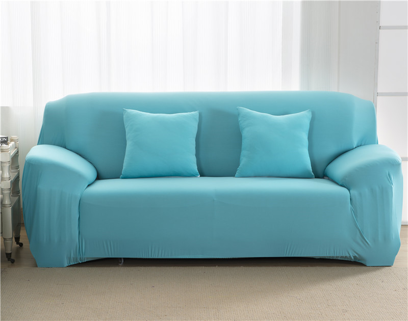 Solid Color Elastic Couch Cover made of Stretchable Material for Singe to 4 Seated Sofa in Living Room 32