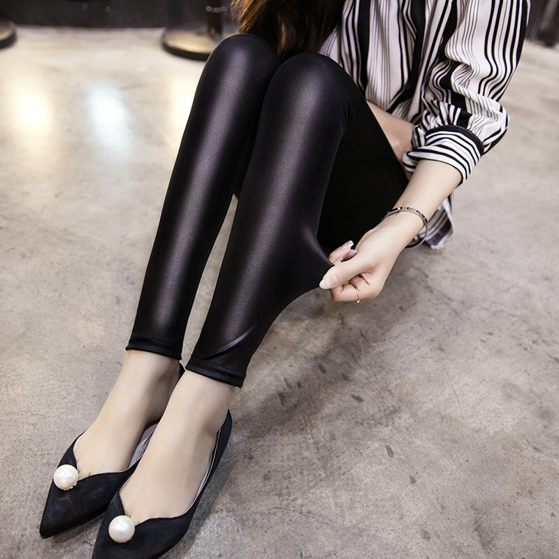Leggings Sinnvoll Frauen Und Mädchen Imitation Leder Dünne Leggings Plus Größe Lederhosen S M L Xl Xxl Xxxl Neun Punkte Mid-taille Hosen Frauen Kleidung & Zubehör