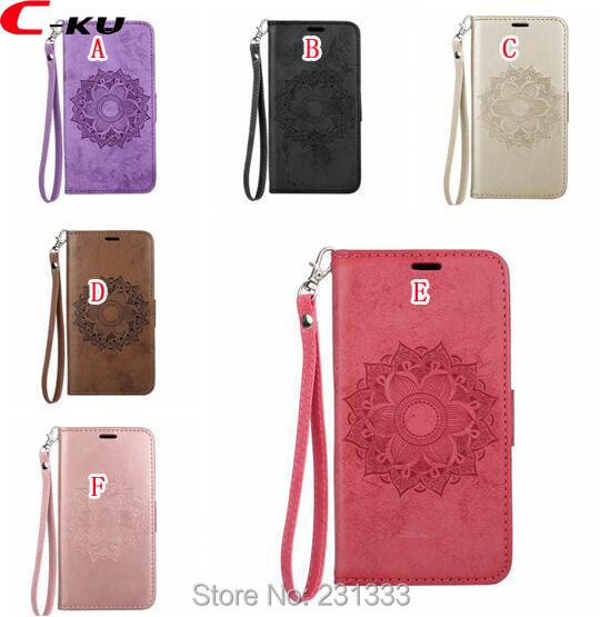 C-ku Mandala Flower Strap Wallet PU Leather Pouch Case For Samsung Galaxy S9 PLUS J2 PRO 2018 A8 Stand Credit ID Card Cover 1PCS