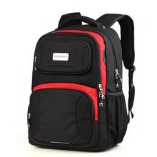 Stoßfest dauerhaft hohe qualität rucksack frauen mode schultasche 17 zoll laptop & ipad zwischenschicht männer designer reiserucksack