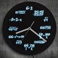 1 шт.  математические настенные часы с светодиодный неоновым освещением  математическая формула  поп-уравнение  Светящиеся Настенные часы  ...