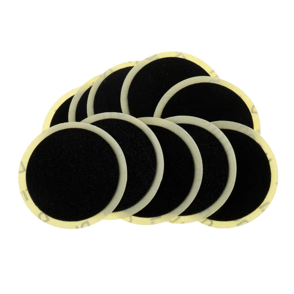 10 Pcs 25mm Self Adhesive Round Patches Rubber Cotton Tires Repairing for Motor Bicycle Bike Tyre Inner Tube Puncture Repair Kit