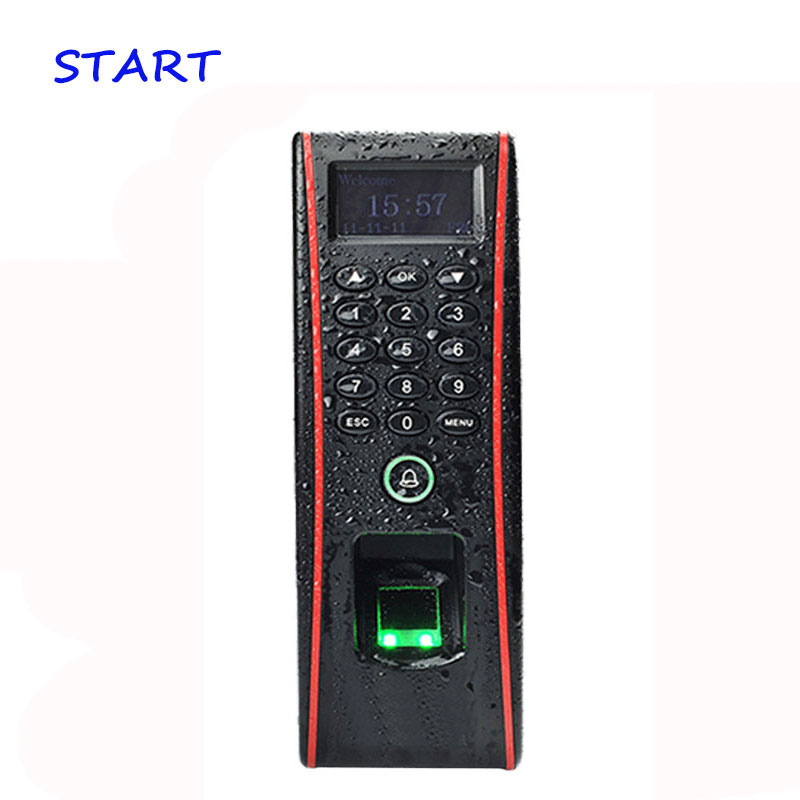 ZK TF1700 Waterproof Biometric Fingerprint Time Attendance And Door Access Control With ID Card Time Recording