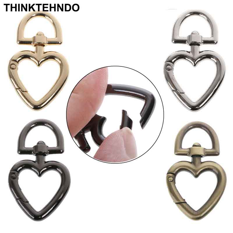 Heart Shape Metal Swivel Clasp Lanyard Snap Hook Spring Claw Clasps