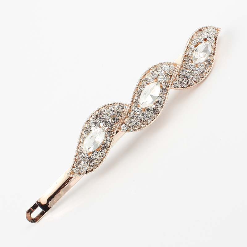 Women Girls Hair font b Jewelry b font Headwear Crystal Rhinestone Hair Clip Barrette Hairpins Fashion