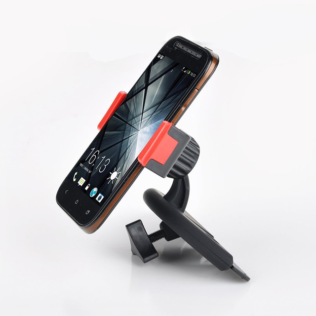 360 Rotating Car CD Slot Dash Phone Holder Stand Mount For iPhone For LG G3 Mini GPS Navigation Car Mount Holder Adjustable 2016