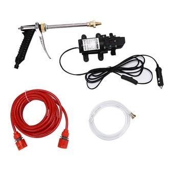 100W 160PSI DC 12V المحمولة ارتفاع ضغط غسيل السيارات الكهربائية غسالة مضخة مجموعة أدوات كيت 1